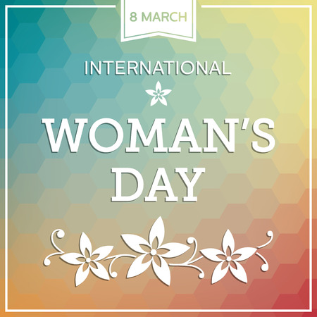 march: Woman s day background with flowers