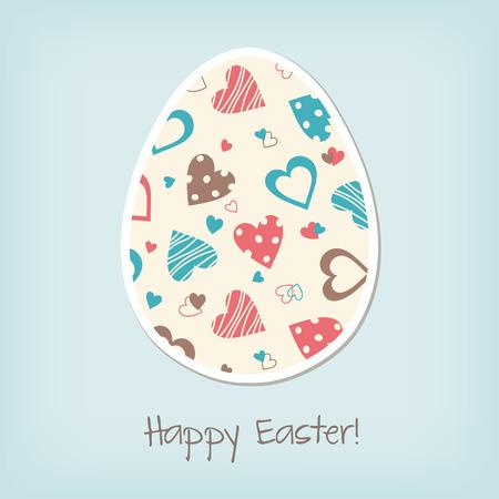 greating card: Easter egg, vintage greating card