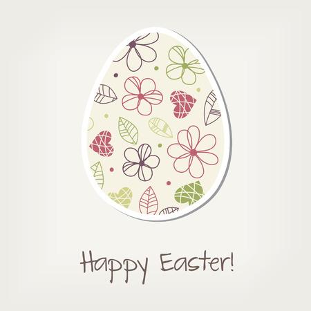 greating card: Easter egg, vintage greating card Illustration