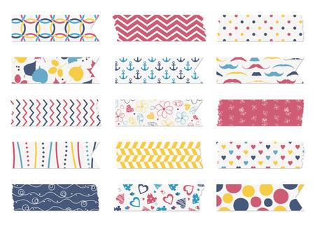 Washi tape strips, scrapbook elements