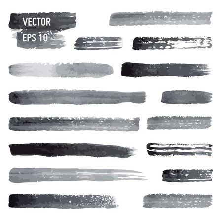 hand torn: Vector watercolor brushes Illustration