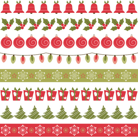 lineas decorativas: Las fronteras de Navidad