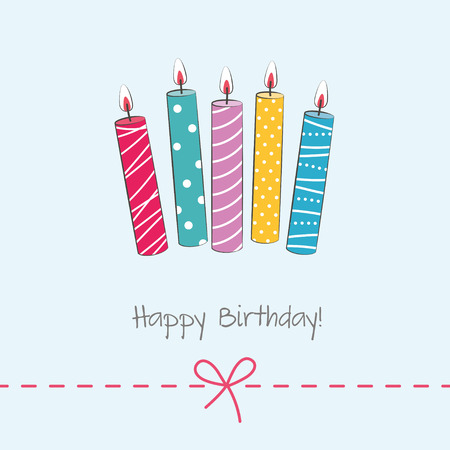 Birthday card with candles