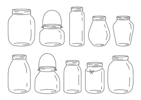 mermelada: Tarros vector fijadas