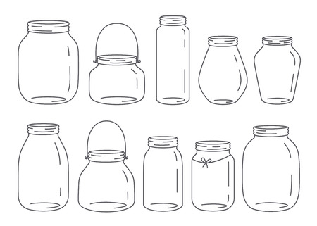 Vector jars set Stock Illustratie