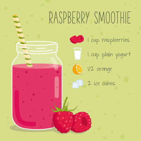 fruit smoothie: Raspberry smoothie recipe