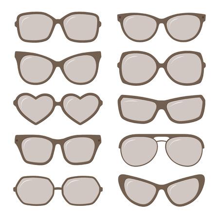 sunglasses: Gafas de sol del vector gafas establecen