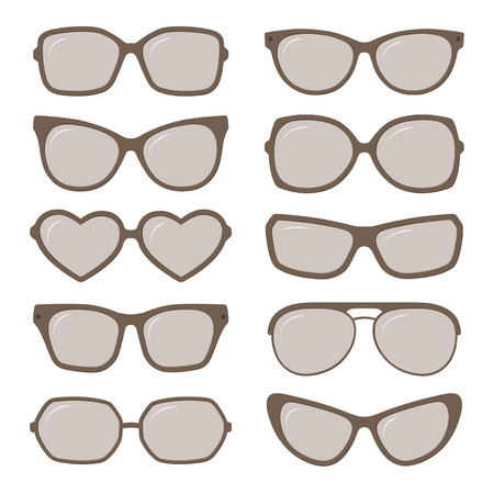 sunglass: Vector sunglasses glasses set