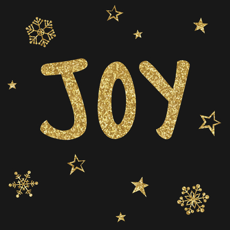 Christmas card, gold texture, joy