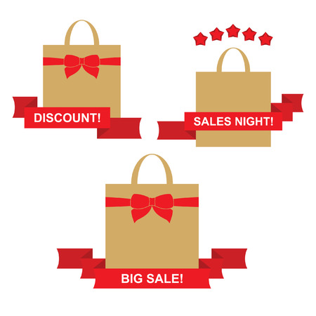 Sales shopping bags Illustration