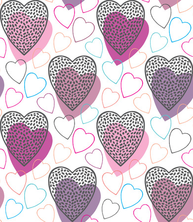 Abstract hearts pattern Illustration