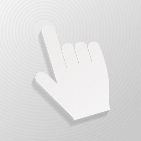 Hand cursor symbol  Illustration
