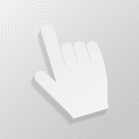 Hand cursor symbol  Illustration