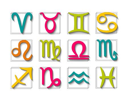zodiak: Zodiac symbol set