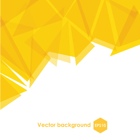 Yellow abstract brochure cover design background