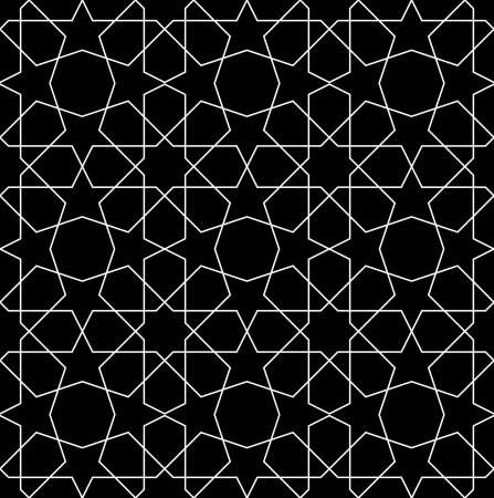 Black seamless geometric pattern