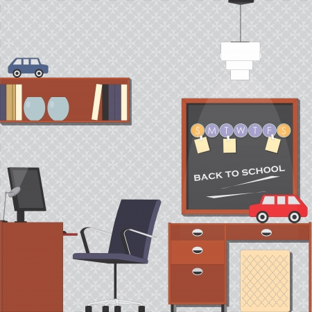 Child-room interior vector illustration Illustration