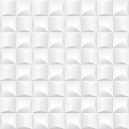 Abstract white polygonal seamless background with 3D effect