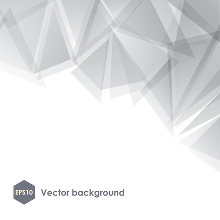 Abstract vector white polygonal background
