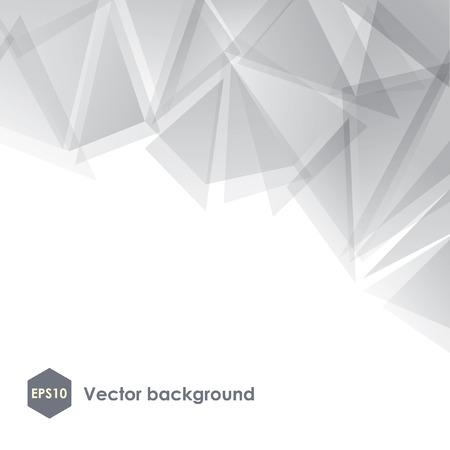 Abstract vector witte veelhoekige achtergrond