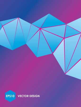 Abstract vector blue polygonal background Illustration