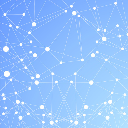 Abstract global network connections vector blue background