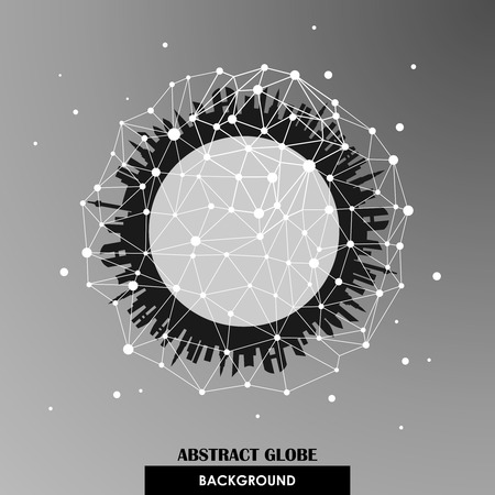 Abstract globe network connections vector background Vector