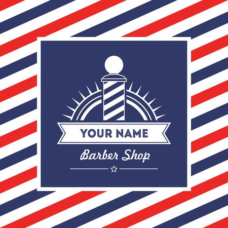 barbero: Peluquería peluquero signo y servicios de tienda de diseño de la plantilla