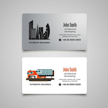 eco slogan: Arquitectura desarrollo o alquilar plantilla de tarjeta de visita
