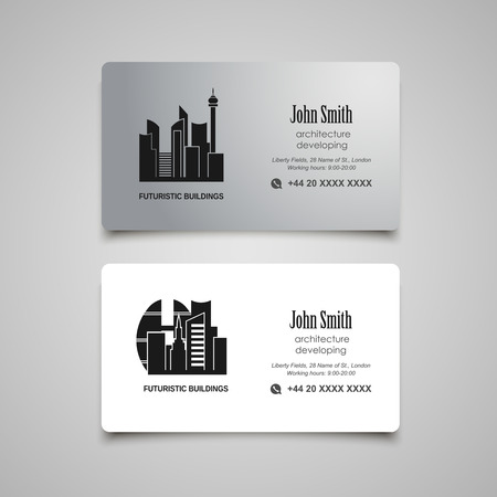 developing: Architecture developing or rent business card  template