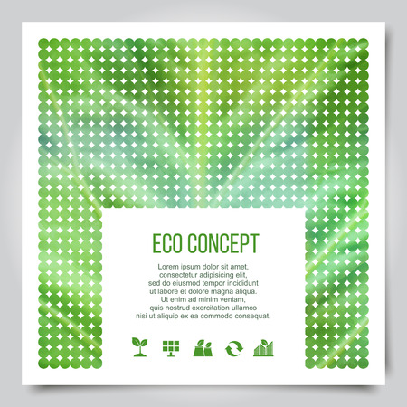 Green eco concept layout design with abstract  leaf texture.