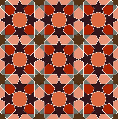 persian art: Geometric Persian art seamless pattern