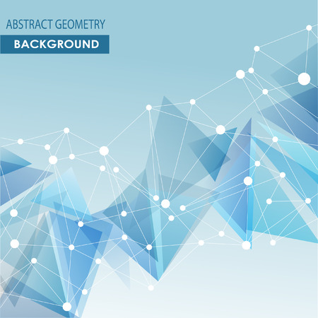 global background: Polygonal background with abstract molecular connection.