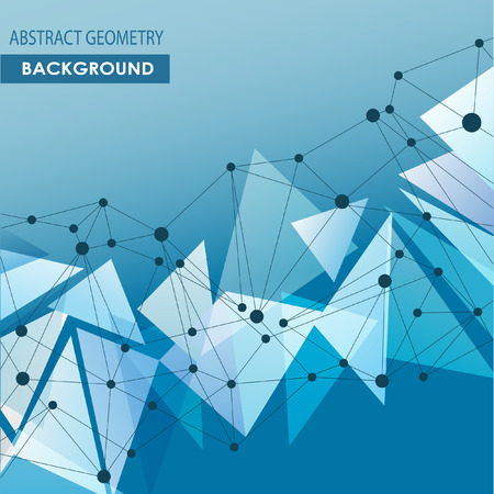 medical research: Polygonal background with abstract molecular connection.