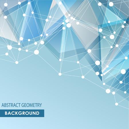 Veelhoekige achtergrond met abstracte moleculaire verbinding. Stock Illustratie