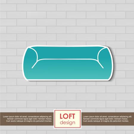 furniture concept: Vintage armchair icon furniture concept