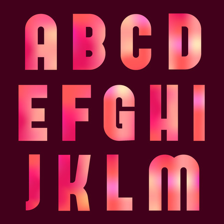 Latin alphabet with blur effect. Vector collection