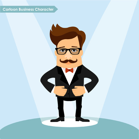 business shirts: Vector Business man cartoon character vector illustration