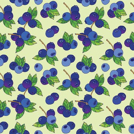 blueberry: Blueberry seamless pattern Illustration