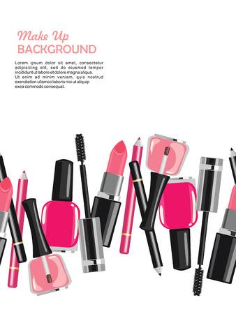 beauty make up: Beauty make up fashion cosmetics abstract background