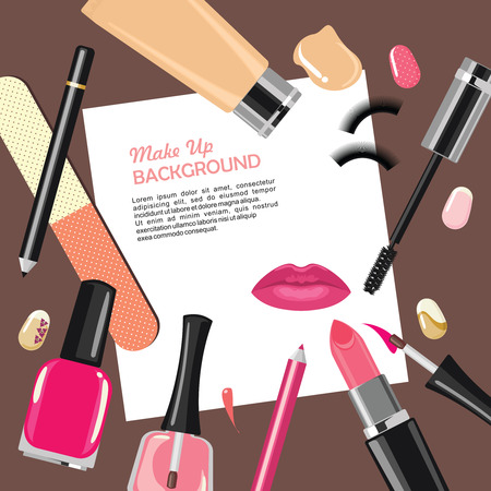 pensil: Beauty make up fashion cosmetics abstract background