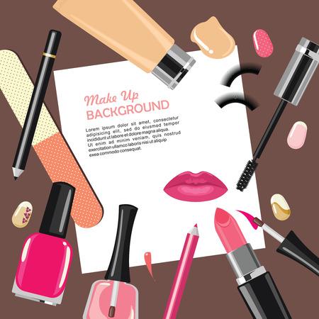 Belleza maquillaje cosméticos de moda resumen de antecedentes