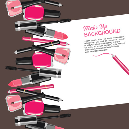 tip up: Beauty make up fashion cosmetics abstract background