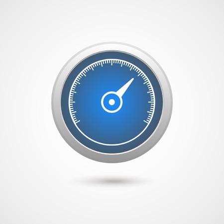 sectors: Speedometer icon Illustration