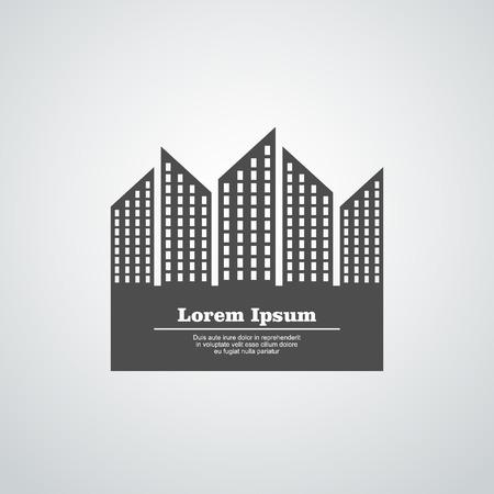 edificio: Arquitectura bloques de construcción blanco símbolo ilustración Vectores