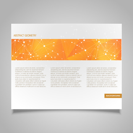 business abstract: Brochure page banner and business card vector design templates with abstract molecular connection theme Illustration