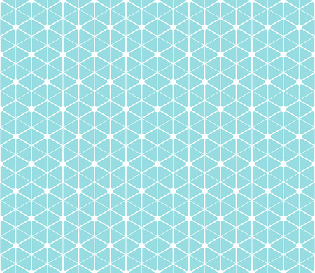 Hexagonal abstract connection vector seamless pattern