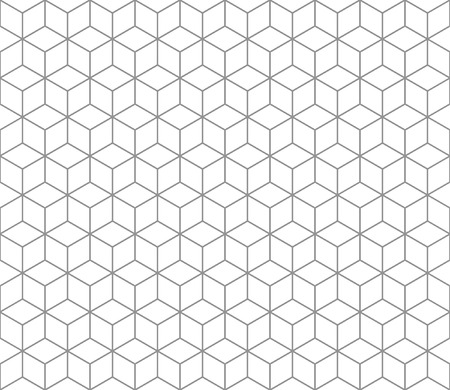 Hexagonal abstract connection seamless pattern Ilustracja