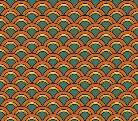 pattern vintage: Art Deco hexagonal seamless vintage wallpaper pattern