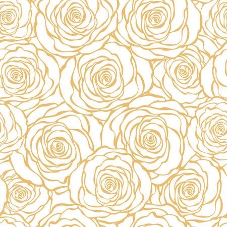 Art Deco seamless floral avec des roses Banque d'images - 41644511